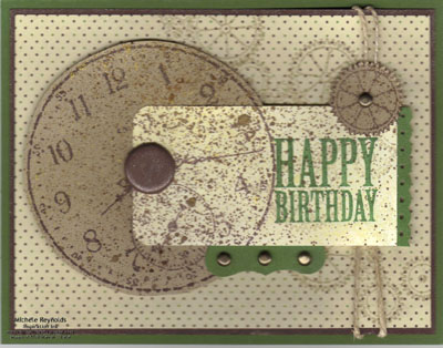Sense of time birthday clock watermark