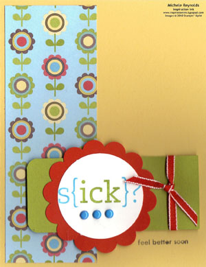 Word play big get well flower watermark
