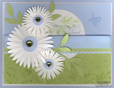 Watercolor trio daisies from the heart watermark