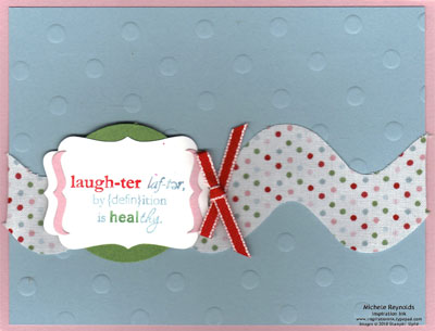 Word play laughter fabric watermark