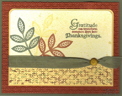 Day of gratitude gold glow leaves watermark