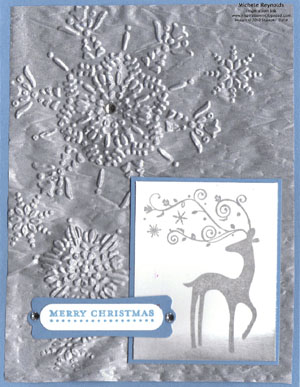 Dasher dry embossed waffle paper watermark