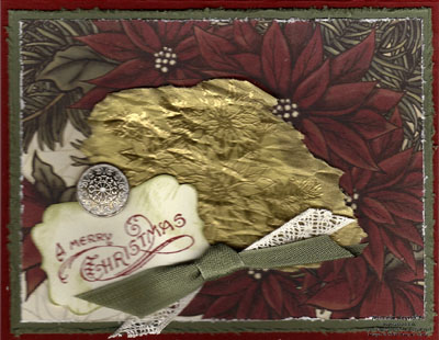 Bells & boughs torn waffle paper watermark