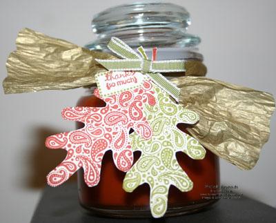 Paisley prints jar candle watermark