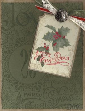Christmas collage vintage tag watermark
