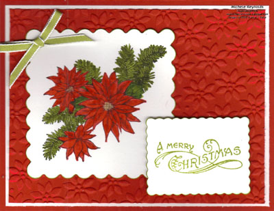 Bells & boughs scalloped poinsettias watermark