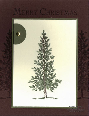 Lovely as a tree framed pine watermark