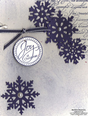 Perfect punches snowflake joy watermark