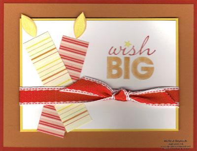 Word play big candles wish watermark