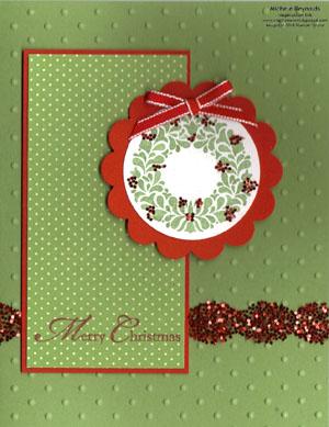 Northern hearts glittery wreath watermark