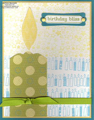Birthday bliss big candle watermark