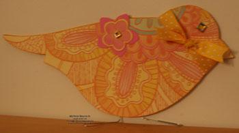 On board bird book big petals bird watermark