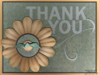 Clearly thanks printed nouveau flower watermark