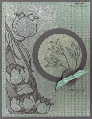 Three little words nouveau tulips watermark