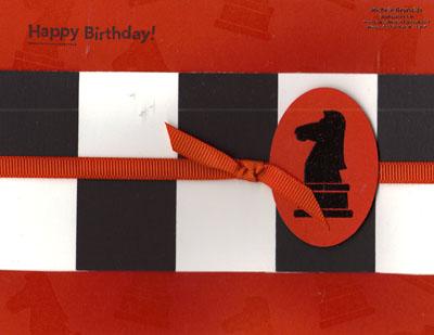 Game night chess board birthday watermark