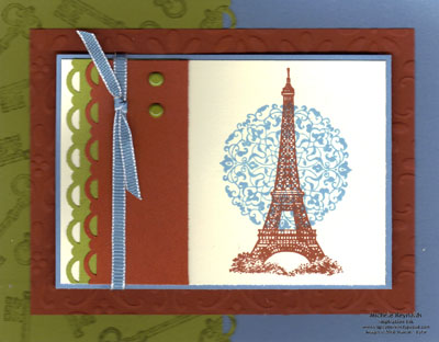 Artistic etchings highlighted eiffel tower watermark