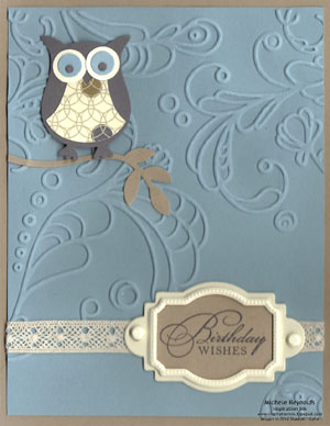 Watercolor trio blue-eyed owl watermark