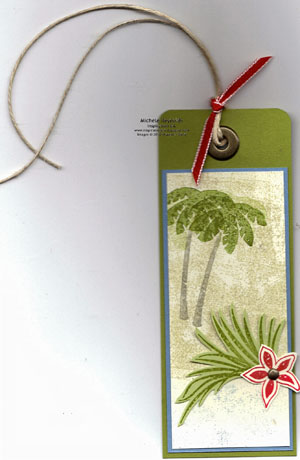 Tropical party bag tag watermark