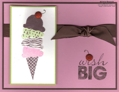 Sweet scoops with glitter cherry watermark