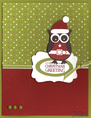 Tags til christmas santa owl watermark