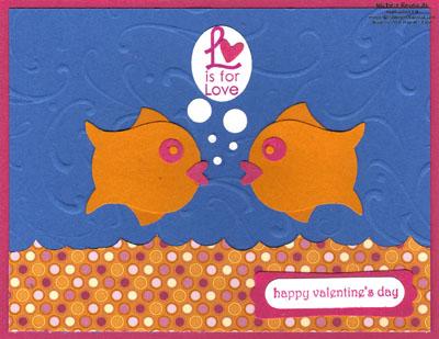 Grateful greetings loving goldfish watermark