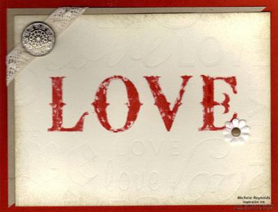 Lots of love letterpress plate vintage love watermark