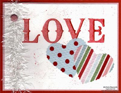 Lots of love letterpress love hearts watermark