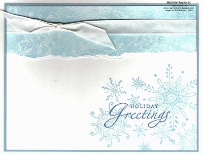 Serene snowflakes ghosted snow watermark