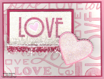 Filled with love love sparkles watermark