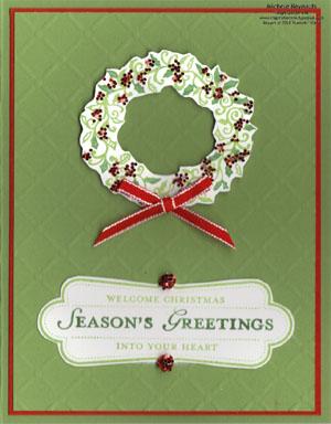 Welcome christmas glittered wreath watermark