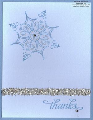 Serene snowflakes simple glitter thanks watermark
