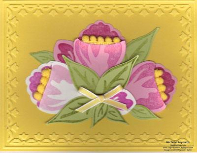 Build a blossom crocus bouquet watermark