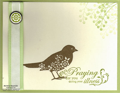 Always praying bird watermark
