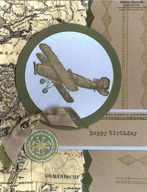 Plane & simple flying ace birthday watermark