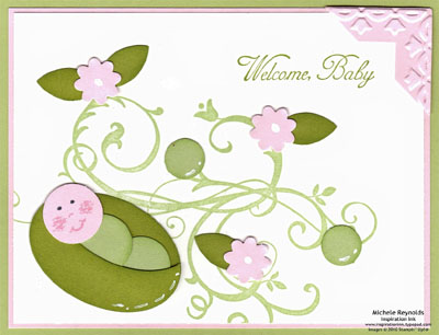 Baroque motifs sweet pea baby watermark
