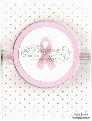 Ribbon of hope pink circles watermark