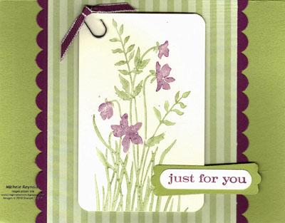 Just believe razzleberry violets watermark