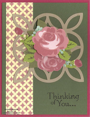 Thoughts & prayers springtime vintage roses watermark