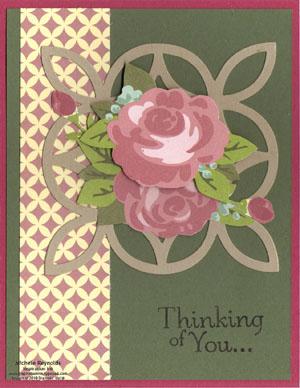Thoughts & prayers springtime vintage roses watermark