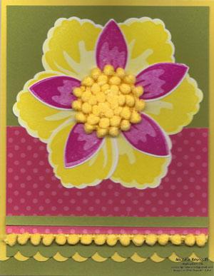Build a blossom pompom flower watermark