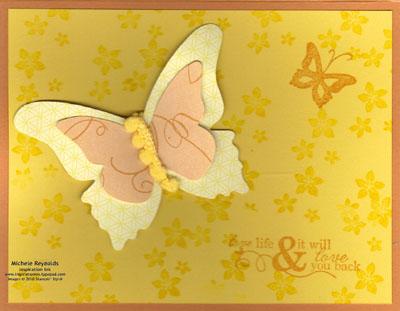 Cottage garden pompom butterfly watermark