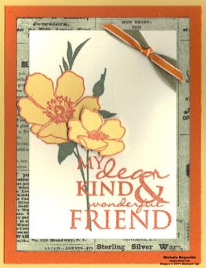 Fabulous florets tangerine friend watermark