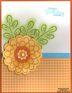 Flower fest embossed flower watermark