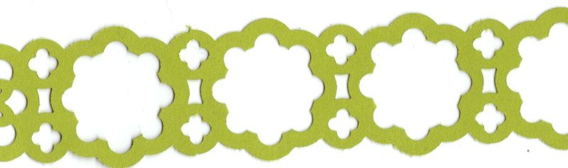 Lace ribbon border punch strip