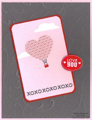 Love impressions xoxo balloon watermark