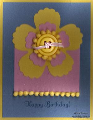 Something to celebrate pompom flower watermark