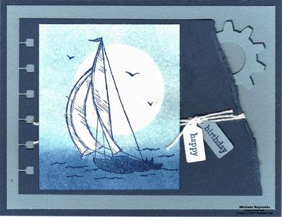 Sail away moonlight sail watermark