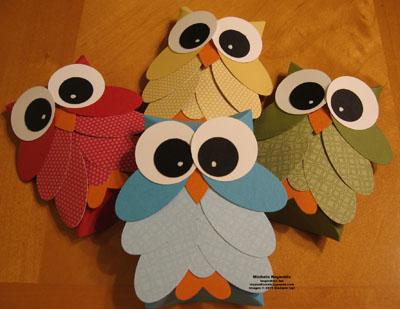 Pillow box owls watermark