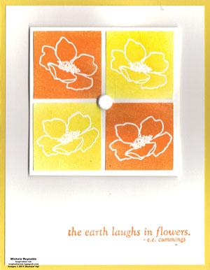 Fabulous florets small color block flowers watermark