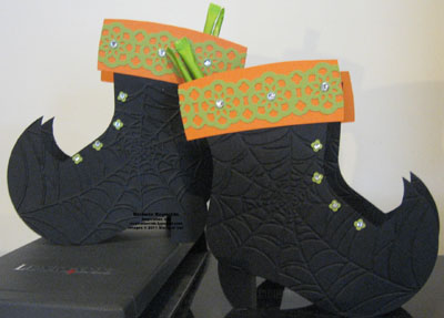 Holiday stocking die witch boot treat holder watermark